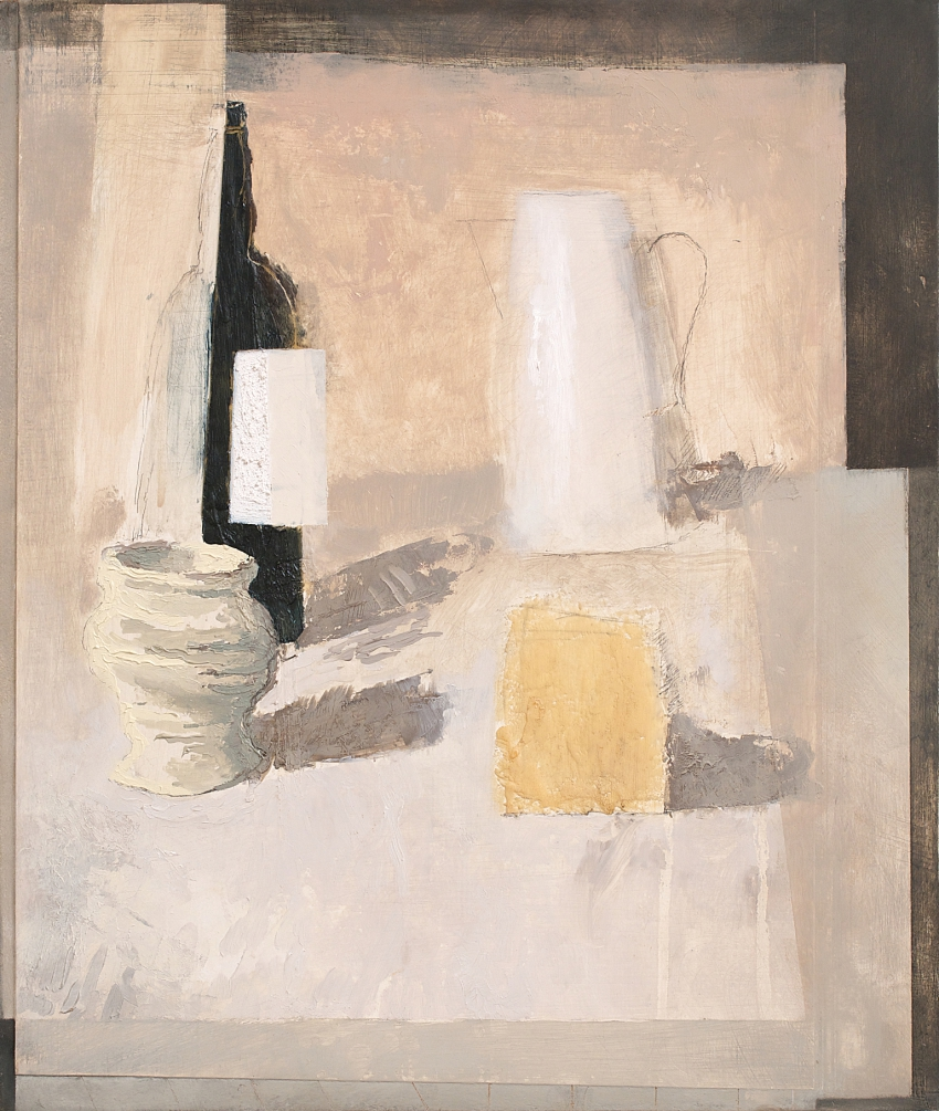 Study for Still-life with Bottle, Jug, Vase and Parcel