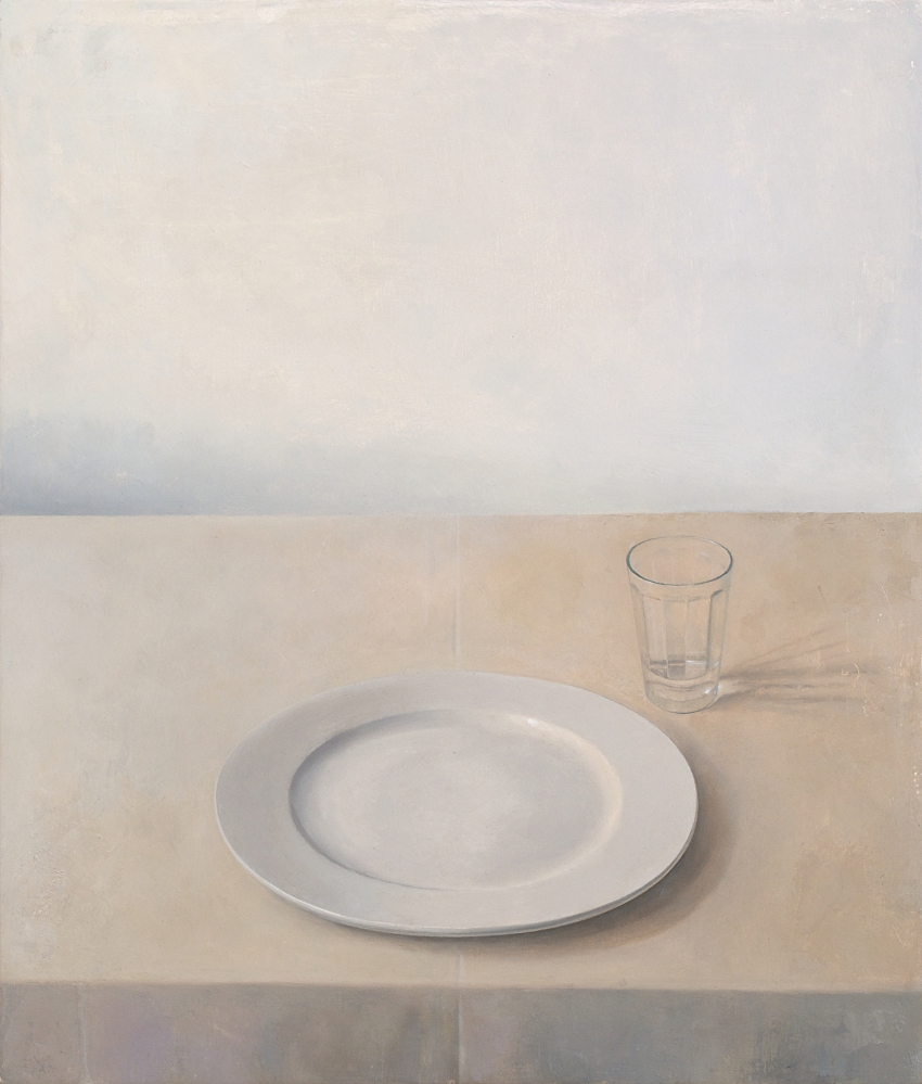 [P114] 03/13 Still-Life with Plate and Glass (Afternoon light)
