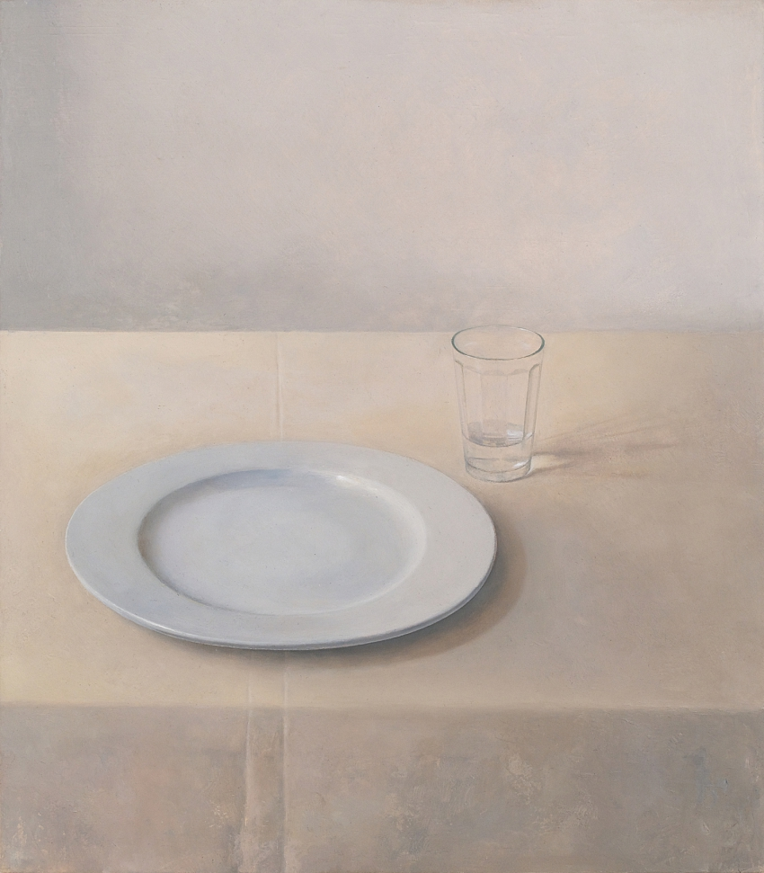 [P113] 03/13 Smaller Study for Still-Life with Plate and Glass (Morning light)