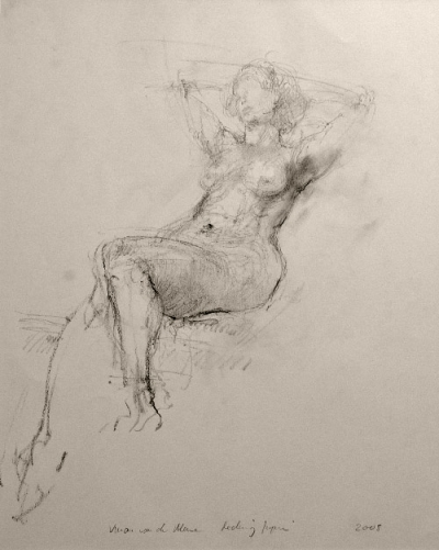 Seated Partially Reclining Female (2007)