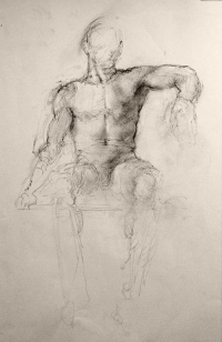 Seated Male Nude (2008)